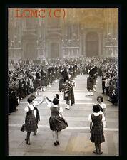 FOTOGRAFIA PHOTO VINTAGE 1965 MILANO SAGRATO DUOMO SCOZZESI THISTLE PIPE BAND