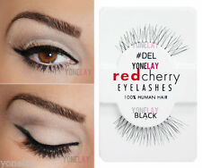 Lot 6 Pairs RED CHERRY #DEL False Eyelashes Human Hair Lash Fake Eye Lashes