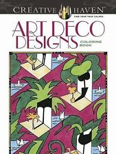 Dover Creative Haven ART DECO DESIGNS Adult Coloring Book Carol Schmidt 2014