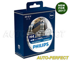 Authentic Philips Racing Vision 150%+ Brighter H4 9003 60/55W Halogen Bulbs