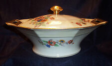 Haviland H&C Limoge PEONIES Vegetable Serving Bowl Casserole Tureen w Lid Cover
