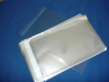 100 8x10  SELF SEAL FLAP TAPE CLEAR POLY BAGS POLYPROPYLENE OPP BAGS 1.5 MIL