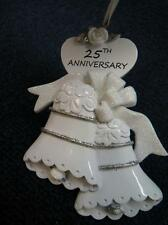 Rudolph & Me WEDDING BELLS 25th Anniversary Christmas Ornament NEW (o2414)