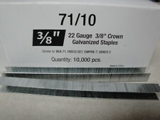 "Standard Upholstery Staples 71 Series 3/8"" Crown 3/8"" Leg Galvanized 22 Gauge"