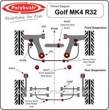 Polybush Front, Anti Roll Bar Link Bush Kit for VW Golf Mk4 R32 2001-2004 44AM