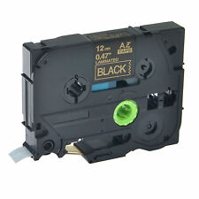 Gold on Black TZ-334 TZe 334 Tape For Brother P-touch PT-D210 12mm Label Maker