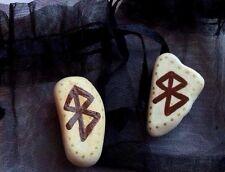 Paix bonheur bind rune et étui. talisman amulette charme confort. sorcière