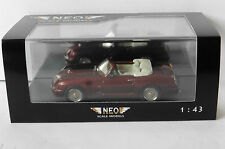 MG ROVER RV8 DARK RED METAL RHD 1994 NEO 44271 1/43 CONVERTIBLE ROADSTER ROUGE