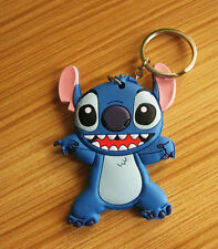 disney lilo&stitch big teeth silica gel key chain key chains