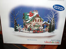 DEPARTMENT 56 SNOW VILLAGE Christmas Lane SANTA'S WONDERLAND HOUSE NIB