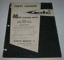 Parts Catalog Gale 40 HP Outboard Motor 40D14B 40DE14B 40DG14B 40DL14B 40DEL14B