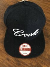 CROOKS AND CASTLES X NEW ERA EMBROIDERED LOGO SNAPBACK IN BLACK!!