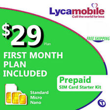 Free 1st Month - LycaMobile Prepaid SIM Card $29 Unlimited Talk Text & Data Plan