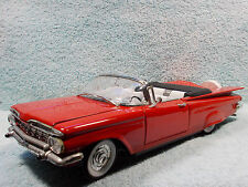 1/18 1959 CHEVY IMPALA CABRIOLET TOP DOWN IN RED BY YAT-MING NO BOX.