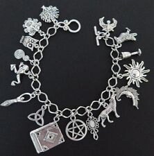 PAGAN WICCA TREE OF LIFE GREEN MAN Bracciale con Charm - 16 Charms