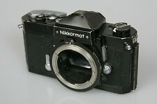 Vintage Nikon Nikkormat FT N 35mm Film SLR Camera Body With Working Meter BLACK