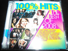 100% Hits Best Of 2008 Various 2 CD Ft Coldplay Katy Perry Paramore Flo Rida & M