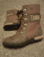 Sorel Major Carly Boots Sz 9 Flax
