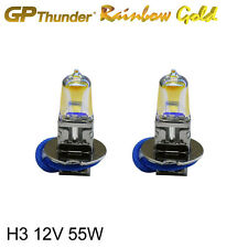 GP-Thunder 2500K Rainbow Gold H3 12V 55W Xenon Light Bulbs Pair