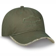 Chevrolet Bowtie Digital Camo Green Chino Cotton Twill Unstructured Hat