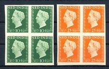 NED INDIE 1948 # 345/46  IMPERF PROOF 4 x -CERTIFICAAT-NO GUM AS ISD MOST VF @2