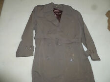 VINTAGE KOREAN WAR ERA US ARMY OFFICERS TAUPE OVERCOAT TRENCH FIELDCOAT MENS 40R