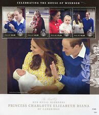 Palau 2015 MNH Princess Charlotte Birth Royal Baby 4v M/S Prince William Stamps