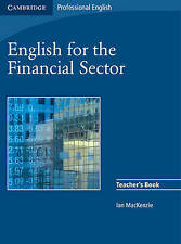 Cambridge Professional ENGLISH FOR THE FINANCIAL SECTOR Teacher's Book NEW