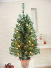 CHRISTMAS TREE WITH POT.3FT.35 CLEAR LIGHTS.78 FLAME RETARDANT PVC TIPS.SMART