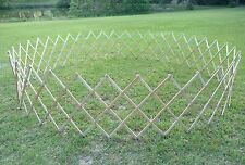 Large Wood Expandable Portable Pet Dog Fence Corral Baby Play Pen 10' dia. used
