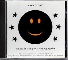 EVERCLEAR - WHEN IT ALL GOES WRONG AGAIN - RARE U.S. PROMO CD SINGLE - MINT