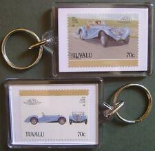 1934 SQUIRE 1.5L Sports Car Stamp Keyring (Auto 100 Automobile)