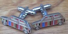 Designer Mini CooPer Cufflinks Steel Striped Business Cufflinks Austin Bmw