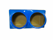 Double 15 fiberglass sub woofer speaker box enclosure carpeted MDF case BLUE