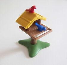 PLAYMOBIL (T3146) FERME - Cabane à Oiseaux sur Tronc d'Arbre & Socle Vert 4203