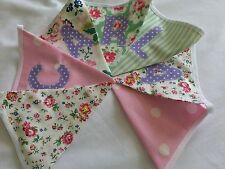 Cath Kidston Provence Rose PINK personalised bunting -CHRISTENING baby girl