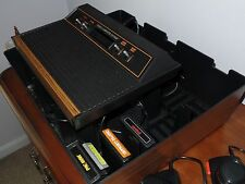 Atari CX 2600 A System Console WITH CASE AND A FEW WORN GAME CARTRIDGES