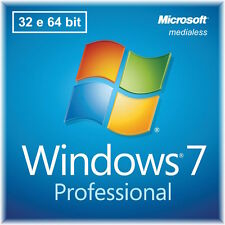 Sistema Operativo Microsoft Windows 7.1 Pro 32/64 bit Italiano COA MEDIALESS