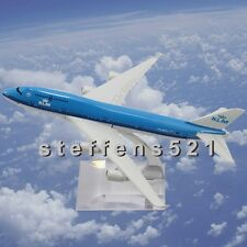 16CM METAL SCALE B747 HOLLAND KLM AIRLINES PLANE MODEL DESKTOP GIFTS FOR KID