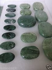 17 pcs SPA Natural Jade Hot Massage Stone set Jade Massage Therapy Energy relaxa