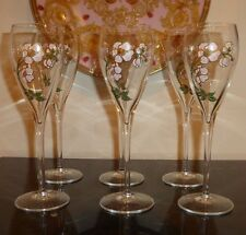 """6 PERRIER JOUET BELLE EPOQUE CHAMPAGNE FLUTES GLASSES - NEW AND IN BOX 8.5"""" H"""