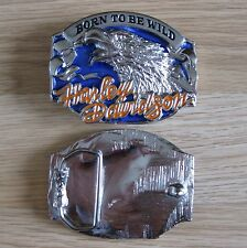 Harley Davidson bike motorcycle silver belt buckle