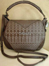 NWT ISABELLA FIORE VERA FLAP LEATHER SHOULDER BAG~CHARCOAL