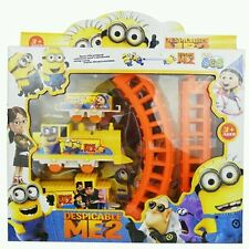 New Cute Movie Character Minions Figures Hot Electric Train Track Kids Children