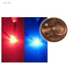 10 SMD LED 0603 BiColor rot / blau - SMDs LEDs 2-farbig red blue rouge bleu