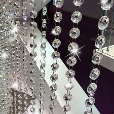 Acrylic Crystal Beaded Pendant Hanging Curtain String Window Door Decor OP