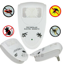 Ultrasonic Electronic Anti Mosquito Rat Mice Rodent Pest Bug Control Repeller