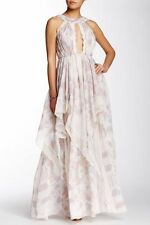 Free People Gray Ivory Tower Tiered Maxi Dress-2-$335 MSRP