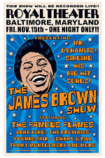 1960's Raw Soul: James Brown at  Baltimore Concert Poster 1963