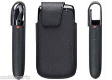 Genuine BlackBerry Torch 9860 Black Leather Pocket Pouch Case ACC-38962-201